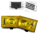 "6.25"" Yellow Off Road Fog Lights w/ Switch"