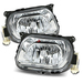 W210 1996-1999 Glass Lens Fog Lights Kit - Clear