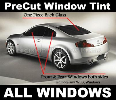Pre cut window tint kit for 14 window tint