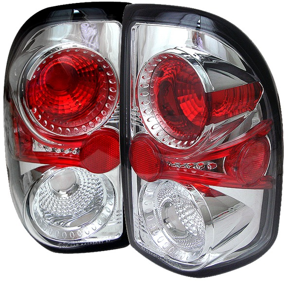 dodge dakota 97 01 euro tail lights chrome. Black Bedroom Furniture Sets. Home Design Ideas