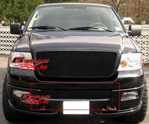 F150 2004 2005 Bumper Billet Grille Insert Black