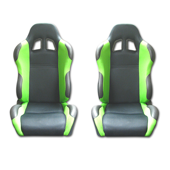 Mustang Green Racing Seats