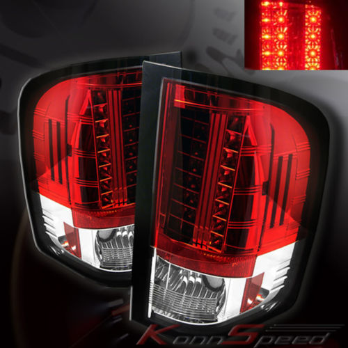 silverado 2007 2009 led tail lights clear red. Black Bedroom Furniture Sets. Home Design Ideas