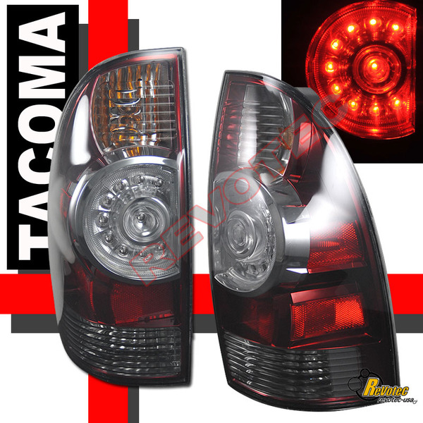 tacoma 2009 2010 led tail lights smoked. Black Bedroom Furniture Sets. Home Design Ideas