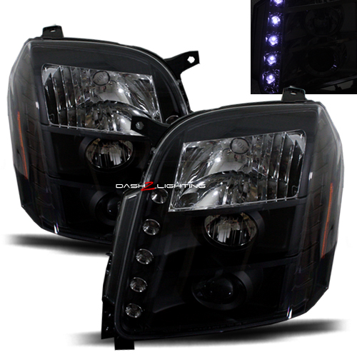 Yukon Denali 2007 2011 Led Projector Headlights Black